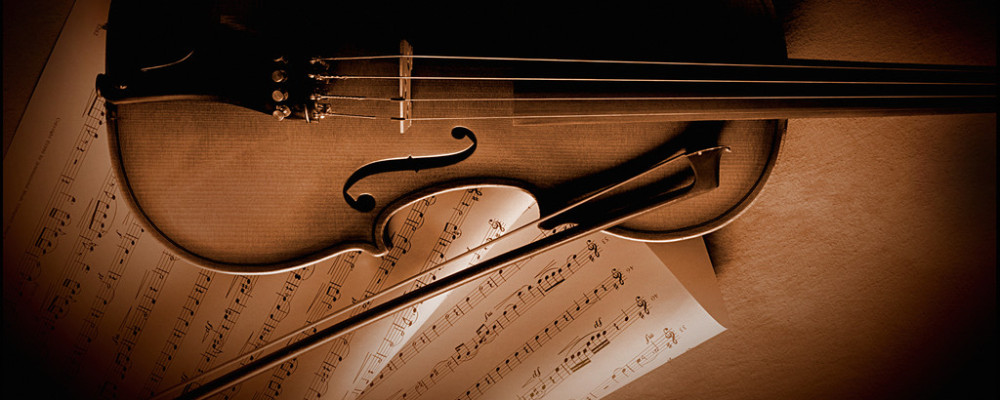 Violin and Sheet Music --- Image by © Royalty-Free/Corbis